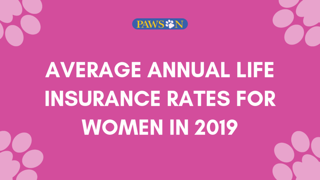 Average annual life insurance rates for women
